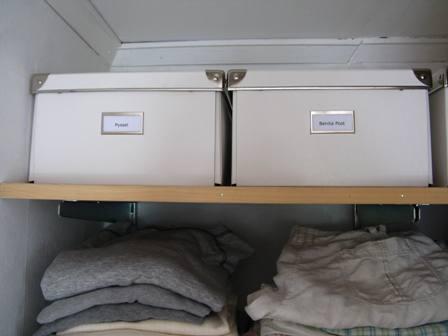 Chez larsson - white boxes - organized