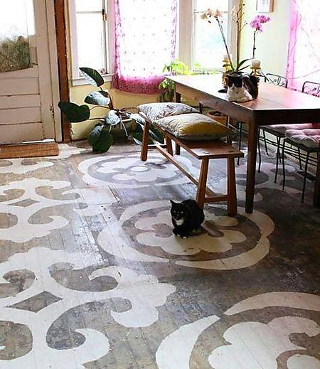 Katherine - painted floors - lena corwin contest