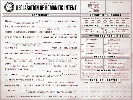 Declaration of intent