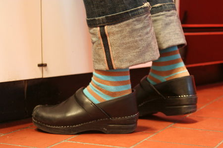 Clogs and crazy socks - via apt therapy houseu tour - dumplings