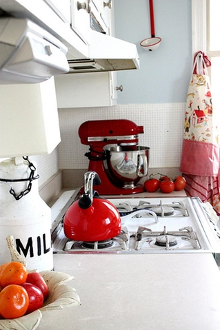 AT house tour - red kitchen