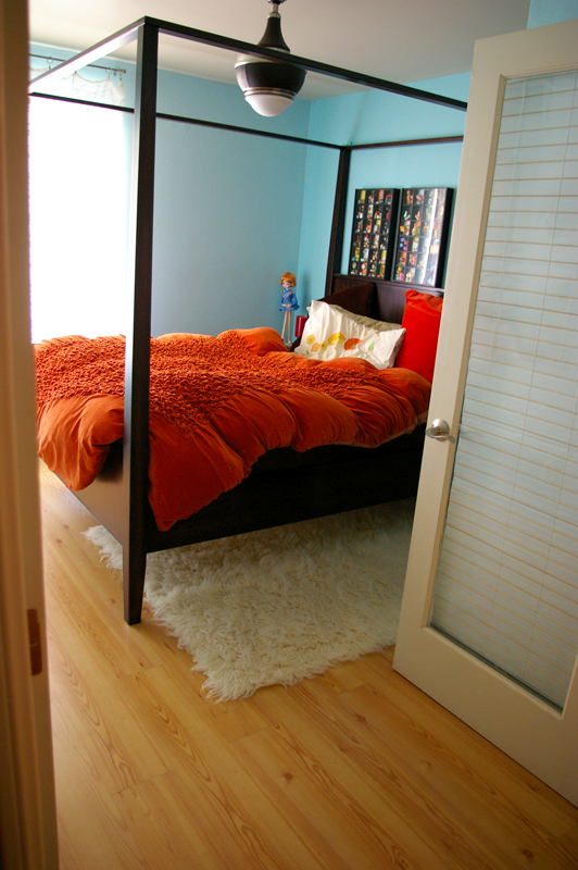 Orange bedroom 1