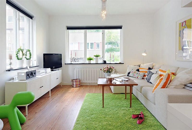 Copenhagen apt - white COLORFUL 2