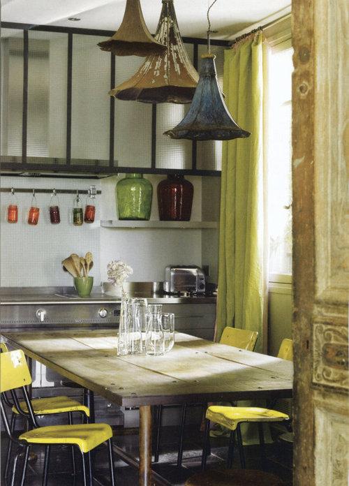 Beautiful - colorful kitchen