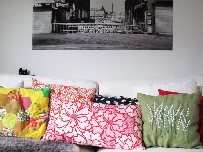 Colorful pillows from aprillaprill