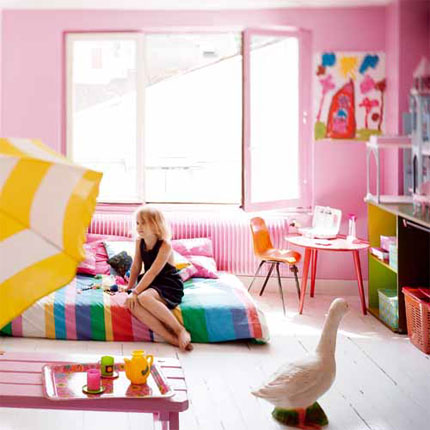 yellow kitchen + pink children\'s rooms (Morning\'s Light )
