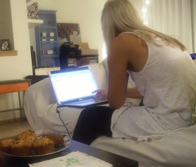 Sharona - my apt - working from home