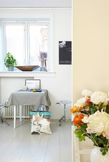Inspirational spaces - table + bags