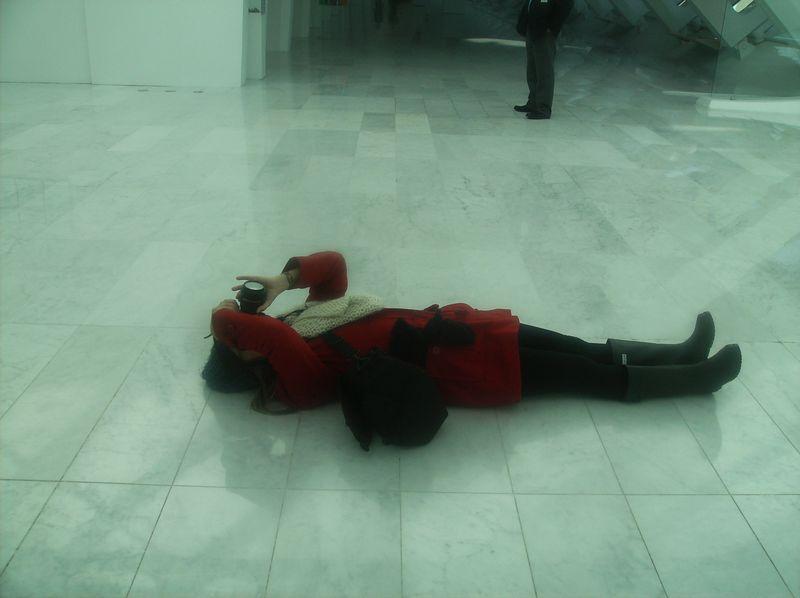 Sharona - floor - photographing