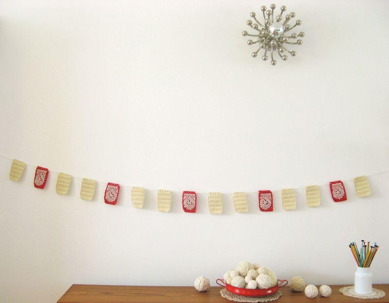 Dottie angel - crocheted squares - garland