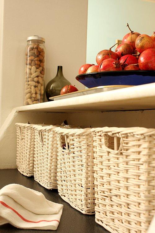Flickr - finelylnc - baskets kitchen