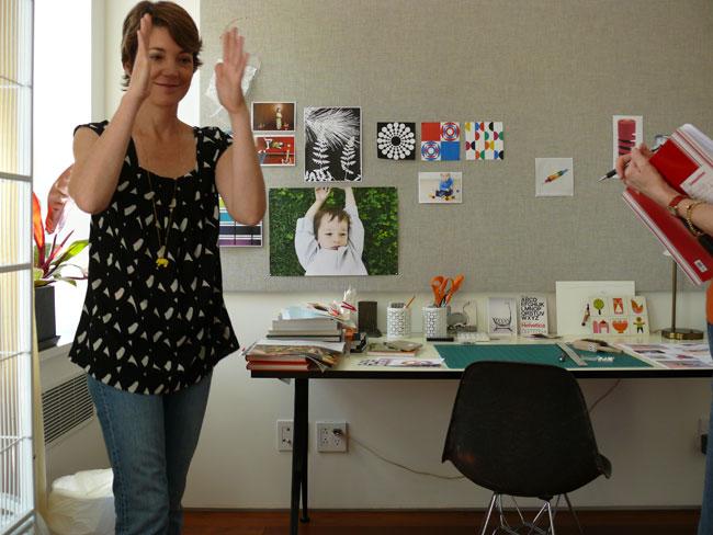 Lisa mahar - in her office