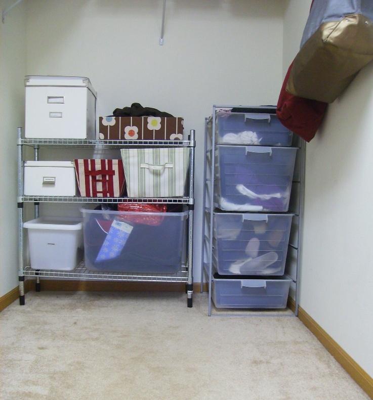 Closet - back wall