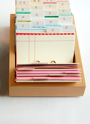 Lovely design - cardfile