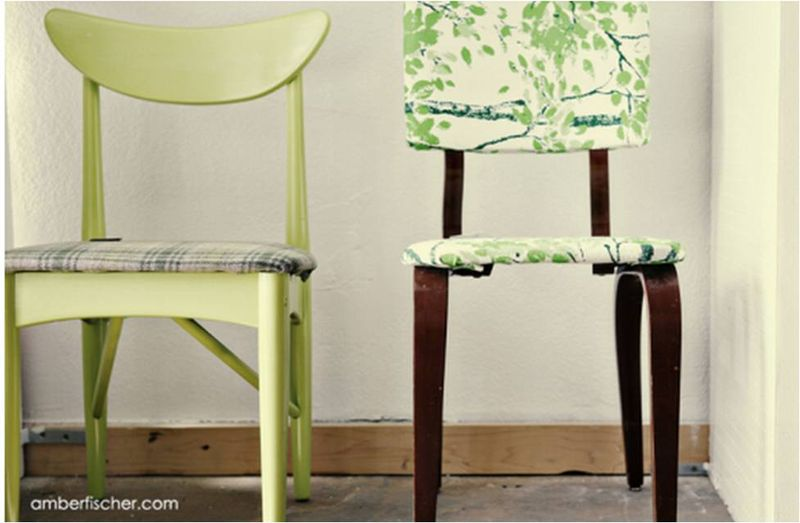 Amber fischer - brass razzoo 1  two green chairs