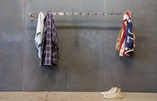 Modern50 - french clothiers garmet wall rack