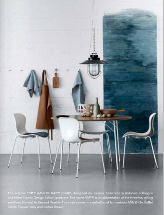 Blue dining area - via EST digital mag 03-11