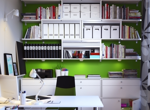 colorful organized workspace morning 39 s light. Black Bedroom Furniture Sets. Home Design Ideas