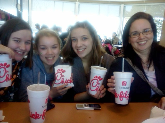 Chicks at chick fil a