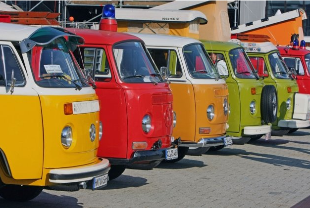 VW pops of color