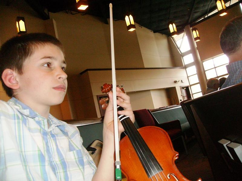 nephew's violin recital